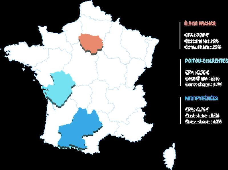 Carte d'analyse par région