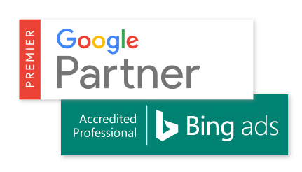Certifications Bing Ads Elite SMB Partner et Google Partner Premier