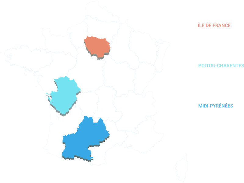 Carte d'analyse par région