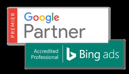 Certifications Bing Ads Accredited Professional et Google Partner Premier
