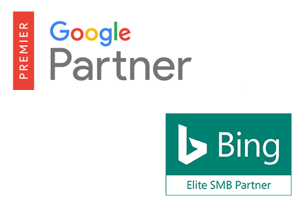 Bing Ads Accredited Professional and Google Partner Premier certifications